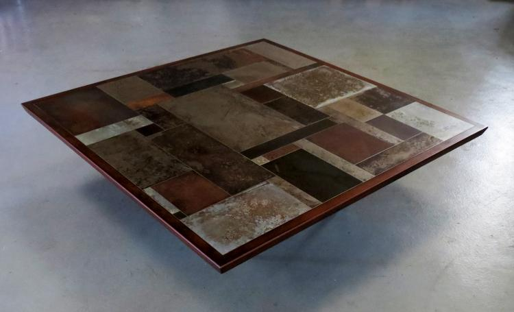 MARC BEDIKIAN, TABLE BASSE, DESIGN, ART, ART DECO, METAL, PATCHWORK, LUXURY FURNITURE, adamah fine arts