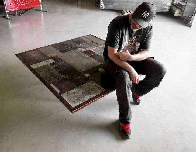 marc bedikian, design, création, mobilier, contemporain, métal, acier, meuble