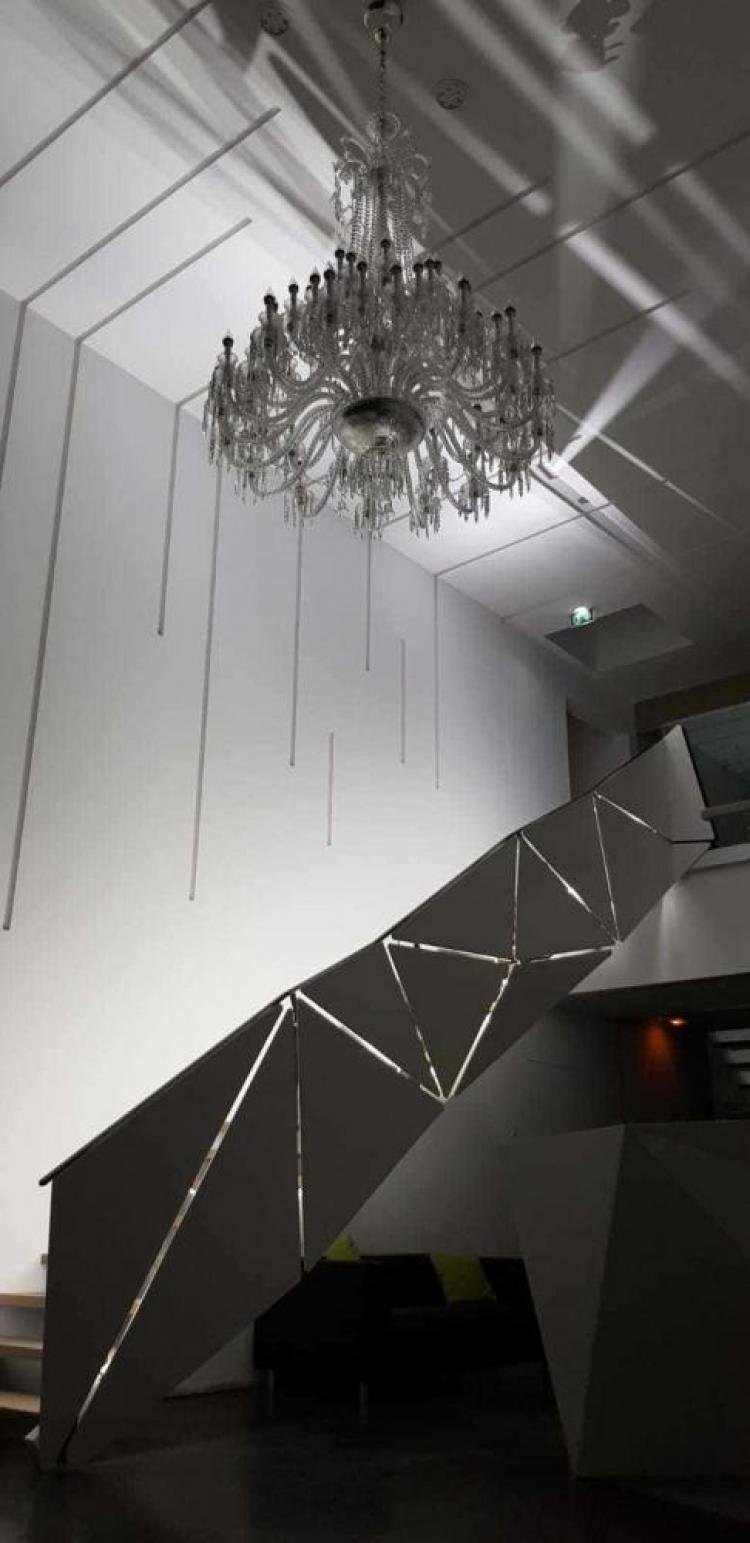 marc bedikian, escalier, design, métal, acier, sur mesure, bois, escalier droit